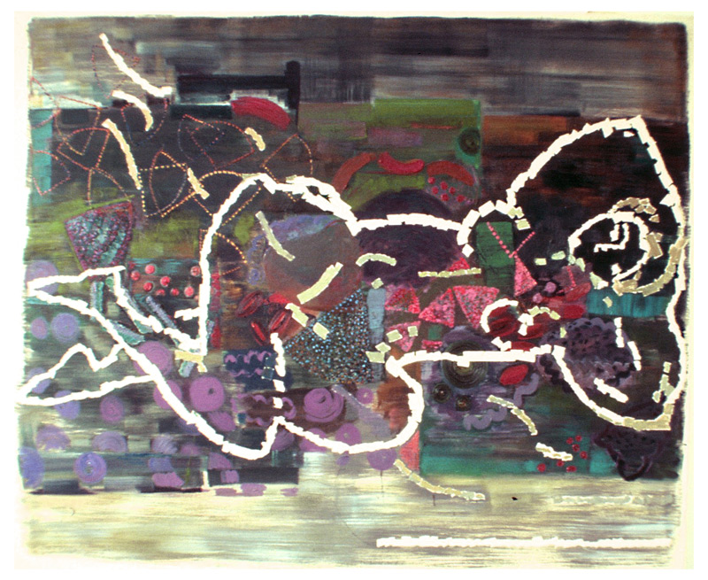Constellations, Charlotte Hodes, 1992, oil on canvas, 152 x 176cm, New Hall Art Collection