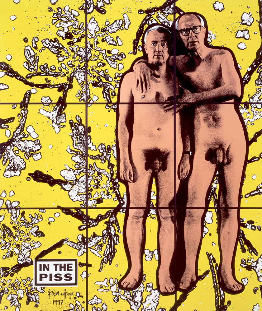 In the Piss by Gilbert&George photo‑pieceofninepanels, 1997, 226 x 190 cm © Gilbert & George