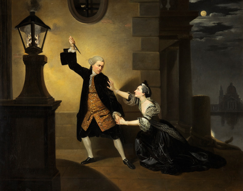 Fig. 9 Johan Zoffany, David Garrick as Jaffier and Susannah Cibber as Belvidera in 'Venice Preserv'd', c.1763, Oil on canvas, 101.5 x 127 cm ©The Holburne Museum 2016