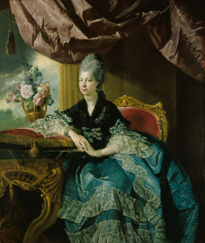 Fig. 6. Johan Zoffany, Queen Charlotte, 1771, Oil on canvas, 162.9 x 137.2 cm. Royal Collection Trust / © HM Queen Elizabeth II 2016