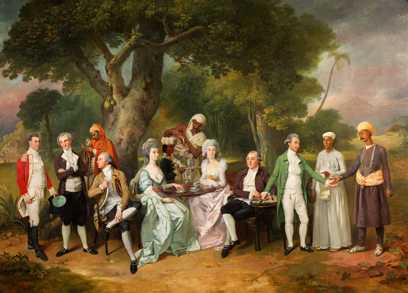 Fig. 8. Johan Zoffany, The Auriol and Dashwood Families, Oil on canvas, c.1783-1787, 142 x 198 cm, On loan from the Dashwood family ©The Holburne Museum 2016