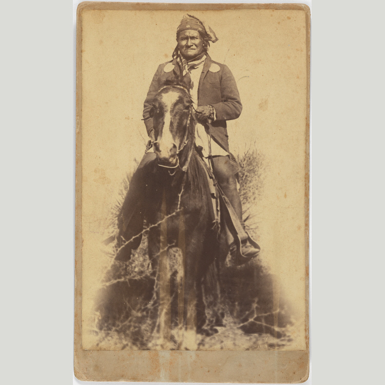 Geronimo, Artist: C.S. Fly, 1886, Albumen silver print, National Portrait Gallery, Smithsonian Institution; gift of Louis and Jude Patch Guglielmino