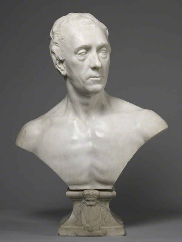 Philip Dormer Stanhope, 4th Earl of Chesterfield by Louis François Roubiliac, 1745, marble bust, 57.8 cm high © National Portrait Gallery, London