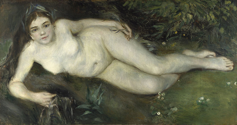 Nymph by a Stream, Pierre-August Renoir, Bought, 1951, courtesy of the National Gallery